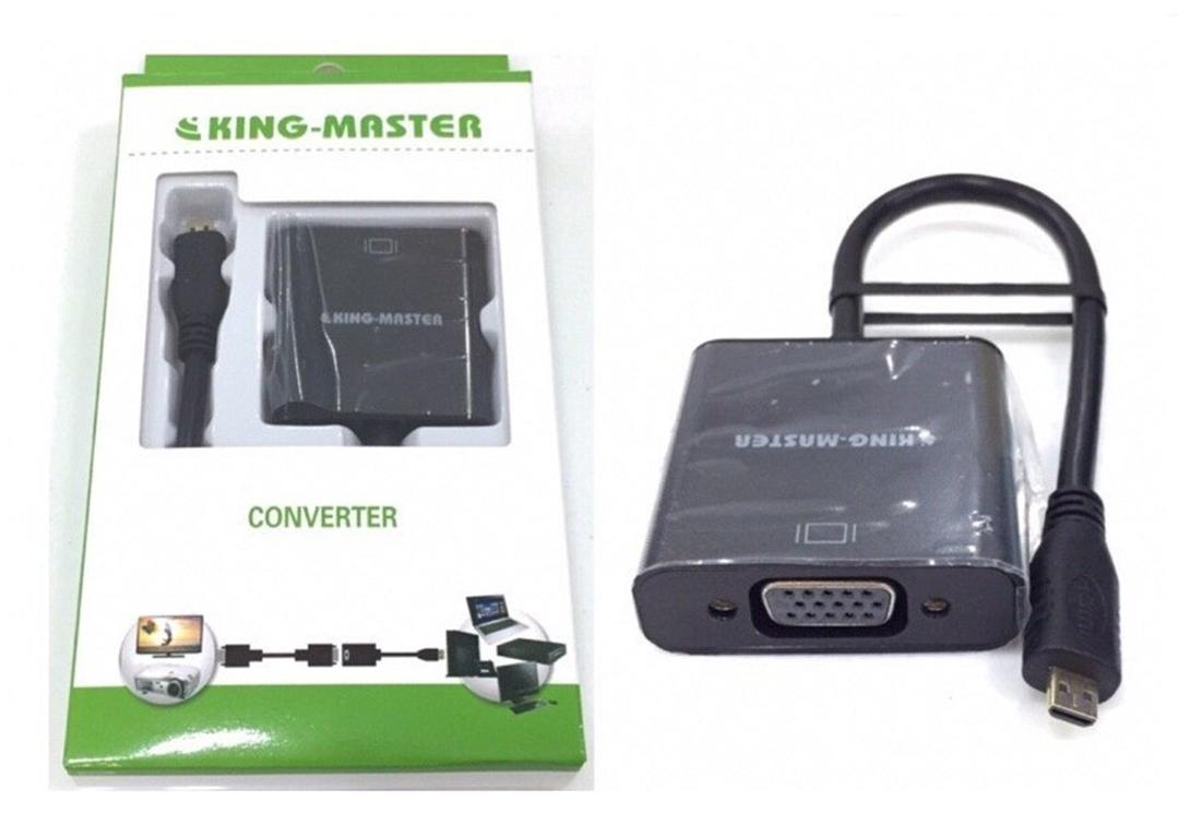 CÁP MICRO HDMI TO VGA  KING-MASTER (KY-H123B)