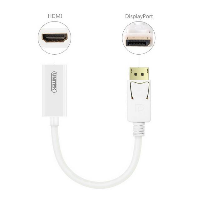 DISPLAYPORT TO HDMI 0.2M HDMI CÁI UNITEK (Y-6332)