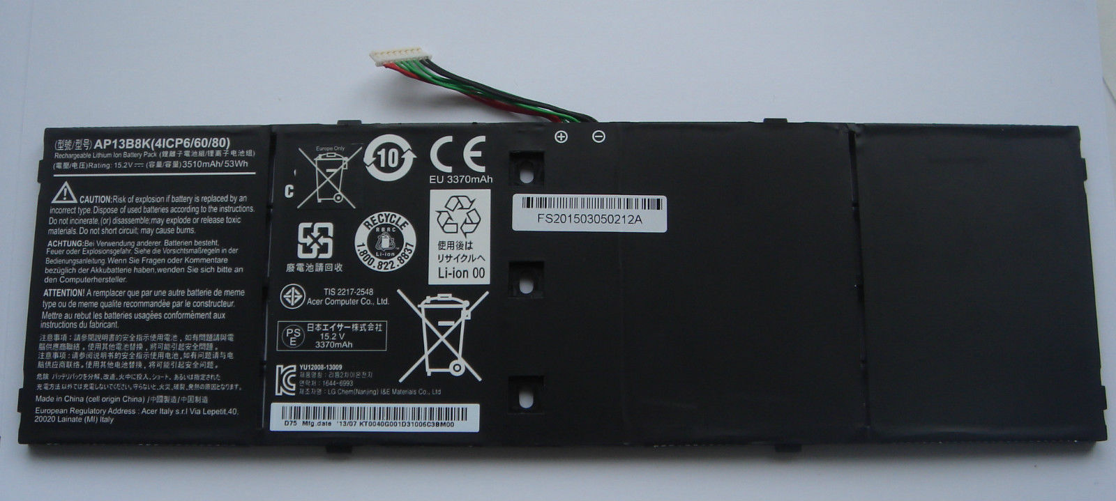 PIN LAPTOP ACER ASPIRE V5-573 ZIN