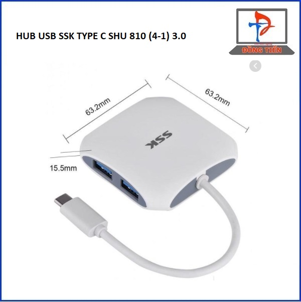 HUB USB SSK TYPE C  SHU 810 (4-1) 3.0
