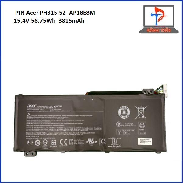 PIN ACER PH315-52 AP18E8M/AP18E7M