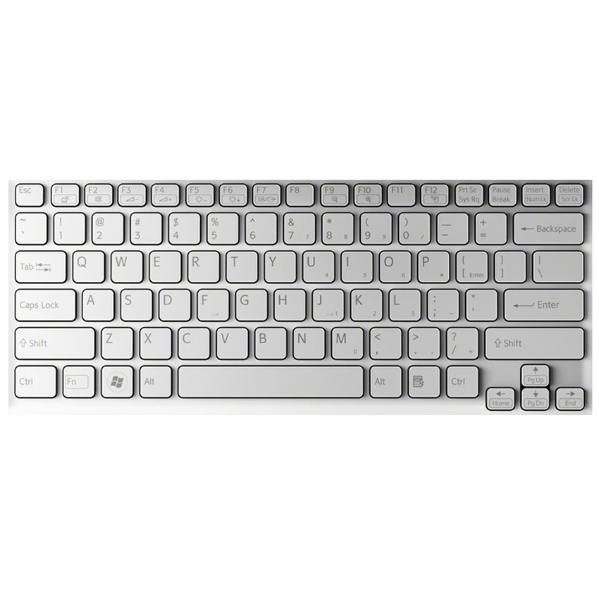 Bàn phím Laptop Sony W bạc