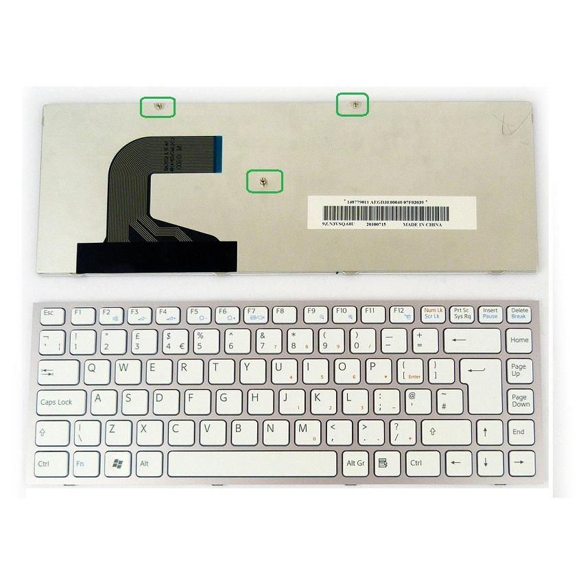 Bàn phím Laptop Sony VPC-S trắng