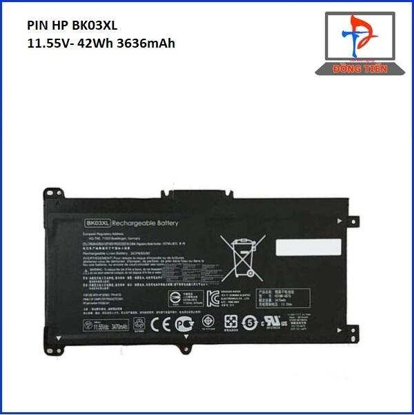 Pin Laptop HP Pavilion X360 14-BA, BK03, 14M-BA BK03XL, HSTNN-LB7S(11.55V 41 Wh) ZIN