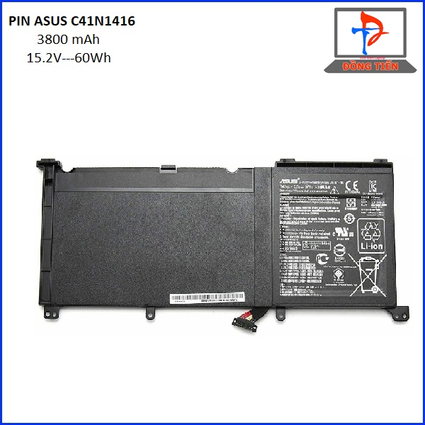 PIN Asus ZenBook Pro G501 G501VW G501VJ G501JW G601J N501J C41N1416