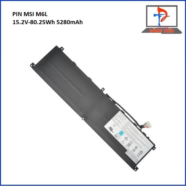 PIN LAPTOP MSI M6L,GS65,GS75,PS63,G658RE,P65,PS63 ZIN 4CELL