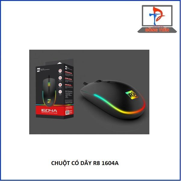 MOUSE R8 1604A LED USB ĐEN