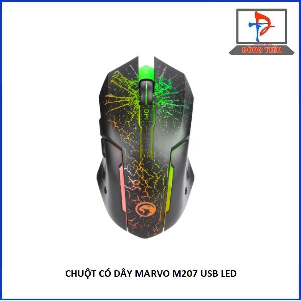 MOUSE MARVO M207 ĐEN LED