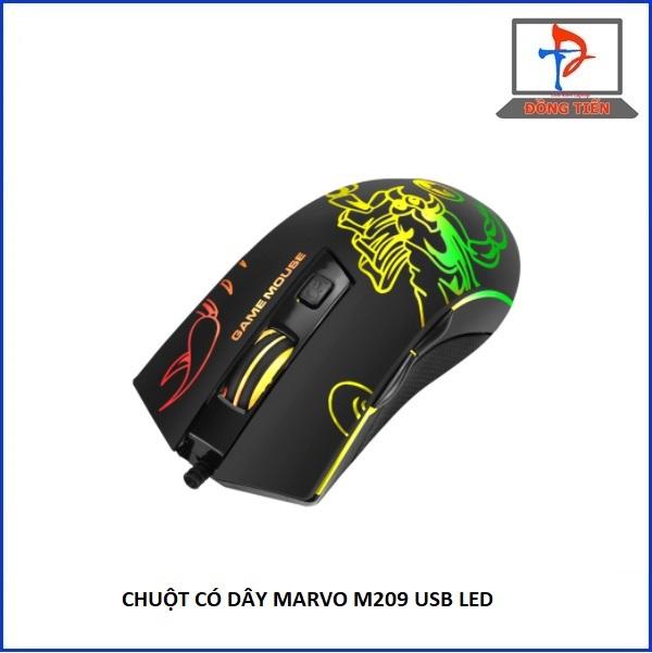 Mouse MARVO M209 Đen led