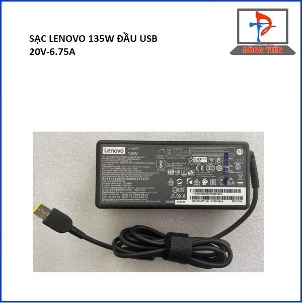 SẠC LAPTOP LENOVO 20V -6.75A ĐẦU USB ZIN 135W