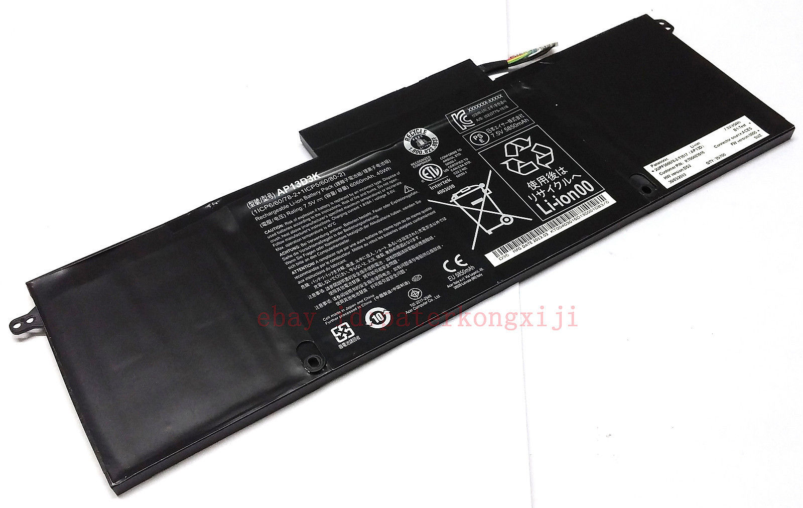 PIN LAPTOP ACER ASPRISE S3-392G ZIN